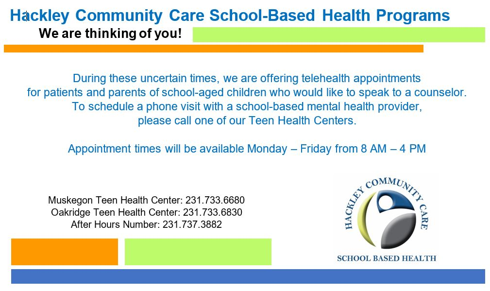 Hackley Community Care - Telehealth available