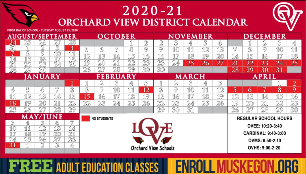 OV District Calendar 2020-2021