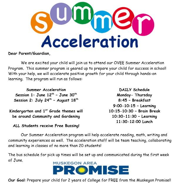2017 Summer Acceleration